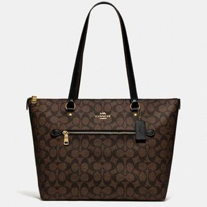 New Coach Gallery Tote In Signature Canvas